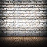Brickwall wnętrze Obrazy Stock