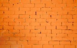 Brickwall wzoru tekstura w pomarańczowym kolorze Obraz Royalty Free