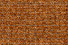 Brickwork. The new brickwork. Mosaic, straight rows, red-brown background Stock Images