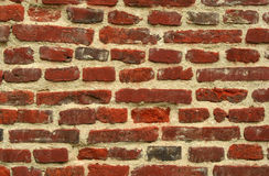 Brickwork. Old brick wall, red and yellow Royalty Free Stock Image
