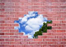 Brickwork and aperture Royalty Free Stock Photography