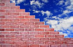 Brickwork and blue sky Royalty Free Stock Image