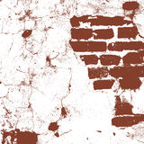 Brickwork, brick wall of an old house, brown and white grunge texture, abstract background. Vector Royalty Free Stock Photography