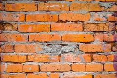 Brickwork bright orange color. Old bricks, wall, texture, building wallpaper royalty free stock photography