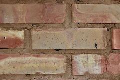 Brickwork. In close up view stock photography