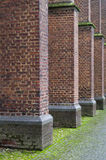 Brickwork columns in a row Royalty Free Stock Photos