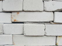 Brickwork. compilation, a combination of red and white, sand-lime brick. Royalty Free Stock Photo