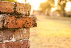 Brickwork,. Construction red brick Places of worship for the Buddhists Royalty Free Stock Images