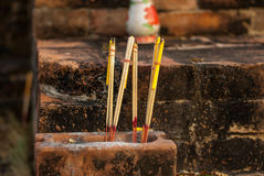 Brickwork,. Construction red brick Places of worship for the Buddhists Stock Image