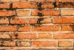 Brickwork,. Construction red brick Places of worship for the Buddhists Stock Photo