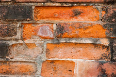 Brickwork,. Construction red brick Places of worship for the Buddhists Stock Photography