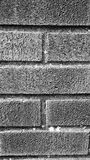 Brickwork detail in black and white Stock Photography