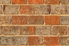 Brickwork. A full frame photograph of brickwork with evening light shining on it stock photos
