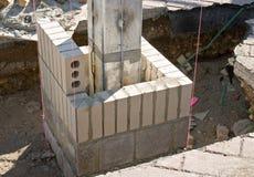 brickwork guidelines pink Στοκ εικόνα με δικαίωμα ελεύθερης χρήσης