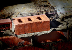 Brickwork on house extension Royalty Free Stock Image