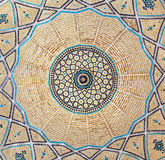 Brickwork inside dome of the mosque Stock Image