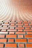 Brickwork kamieniarstwa łuk w flemish spaja z płytką głębią foc Zdjęcie Stock