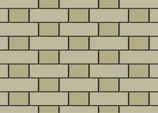 Brickwork from light beige and dark beige bricks. vector illustration