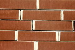 The brickwork of matchboxes Stock Image