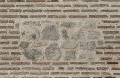Brickwork in the old wall. Stock Photo