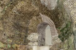 Brickwork in the old wall. Stock Images