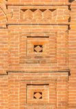 Brickwork pattern on the wall. Brickwork decorative pattern on the wall of the building Stock Photo