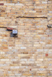 Brickwork at the Qutb Minar Tower in New Delhi Royalty Free Stock Photos