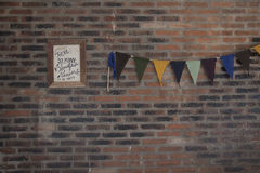 Brickwork. Small wall made of bricks Royalty Free Stock Photo