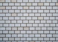 Brickwork. White brick wall, architecture background Royalty Free Stock Photos