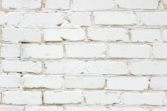 Brickwork, white brick wall close-up stock photo