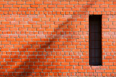 Brickwork with window for walls notebook graffiti. Brick`s background. Brickwork with window for walls notebook graffiti stock photo