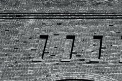 Brickwork of A 100 Year Old Hand Built Brick Building Royalty Free Stock Photos