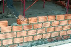 Masonry work Stock Photo