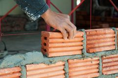 Masonry work Royalty Free Stock Photos