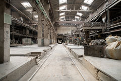 Brickworks. Photo of production workshop inside Stock Image