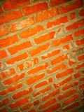 Bricky. Bricked wall aka stock wall wallpaper is best and simple for frames Royalty Free Stock Photo