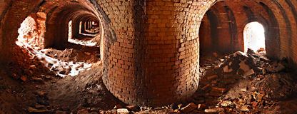 brickyard Arkivbild