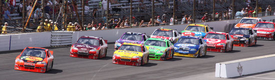 Brickyard 400 Late Race Re-start NASCAR Jamie IMS Royalty Free Stock Image