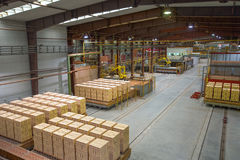 Brickyard. Production hall with special equipment Royalty Free Stock Images