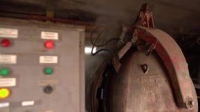 brickyard Vista do painel de controle mais seco do ` s, close-up filme