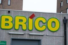 Brico-Speicher Signage Lizenzfreies Stockfoto