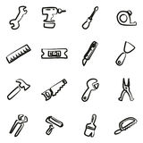 Bricoleur Icons Freehand Photos stock