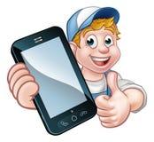 Bricoleur ou mécanicien Phone Concept illustration libre de droits