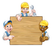 Bricoleur Workers Background Sign Image stock