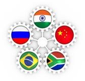 BRICS联盟会员 免版税库存图片