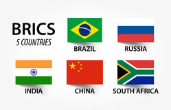 BRICS . association of 5 countries  brazil , russia , india , china , south africa Royalty Free Stock Photography