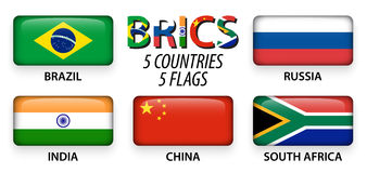BRICS . association of 5 countries  brazil . russia . india . china . south africa Stock Photo