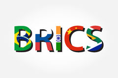 BRICS . association of 5 countries  brazil . russia . india . china . south africa Royalty Free Stock Images