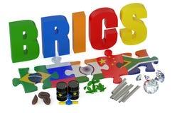 BRICS-begrepp vektor illustrationer