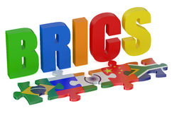 BRICS concept with puzzle Stock Images
